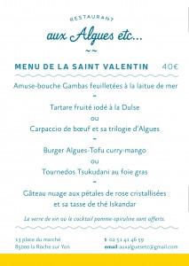 vendee mag restaurant aux algues etc la roche sur yon menu saint valentin
