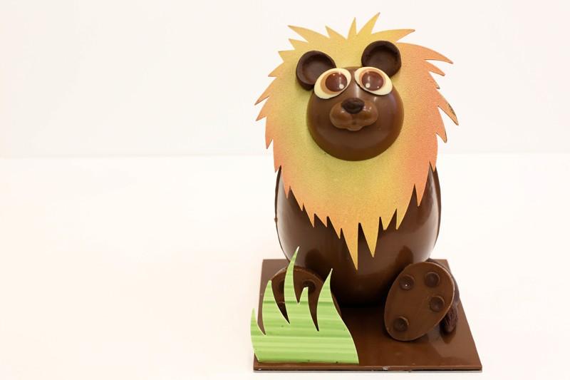 vendee mag chocolatier la roche sur yon arbre à sucre creation de paques 2016 leon le lion