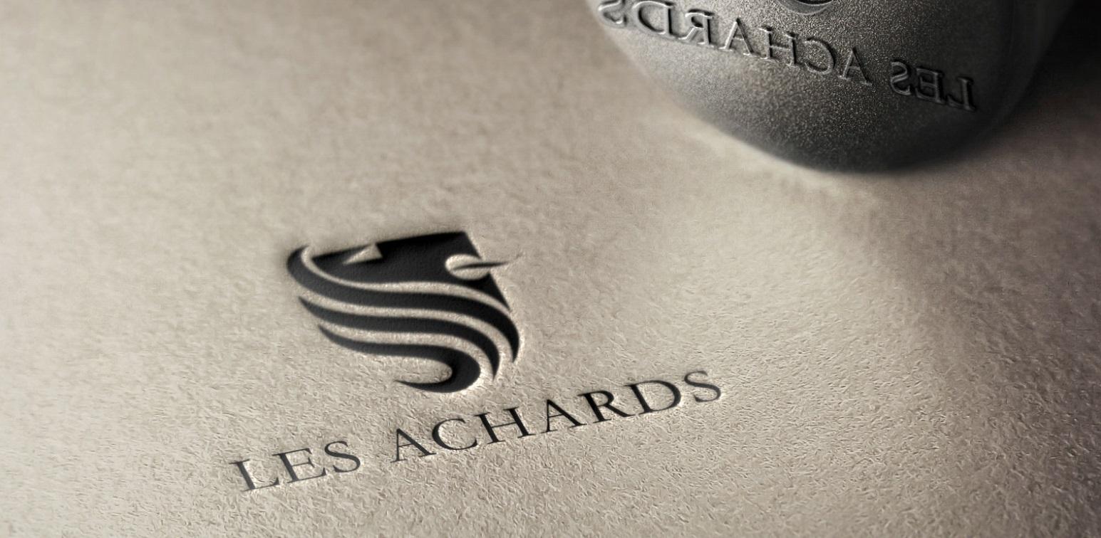 Nouvelle commune, nouveaux enjeux et … nouveau logo Pour LES ACHARDS !! Un belle collaboration !