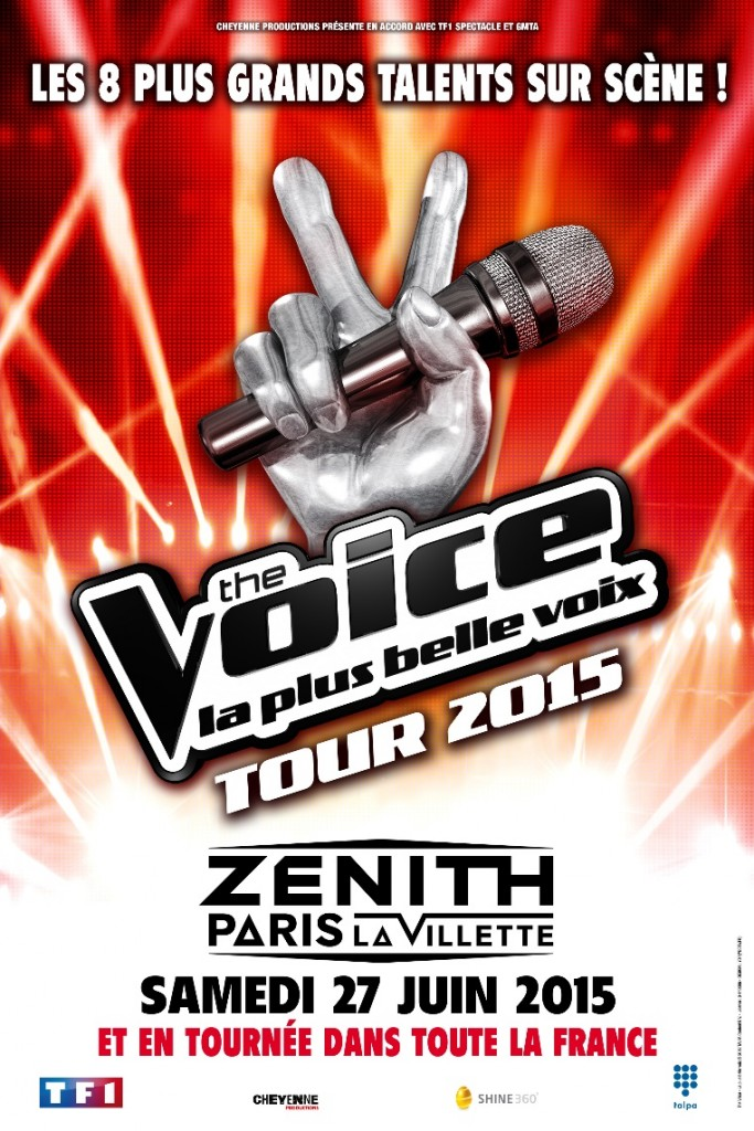 the voice tour 2015 concert vend space vendee mag. Black Bedroom Furniture Sets. Home Design Ideas