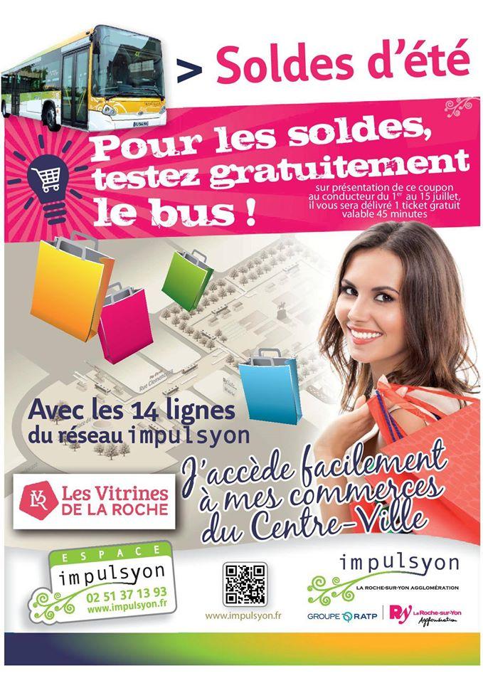 la roche sur yon magazine actualit bus gratuit pour faire les soldes 85000 juillet 2015. Black Bedroom Furniture Sets. Home Design Ideas